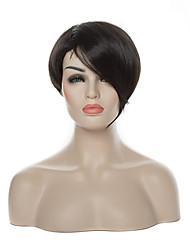 economico -Donna Parrucche sintetiche Senza tappo Pantaloncini Lisci Nero parrucca nera Parrucca di Halloween Parrucca di carnevale costumi parrucche