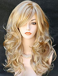 cheap -Synthetic Wig Wavy Blonde Women's Carnival Wig Halloween Wig Long Synthetic Hair