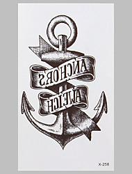 Недорогие -моды татуировки якорь водостойкие наклейки татуировки