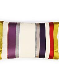 cheap -Colorful Striped Satin  Cushion Cover