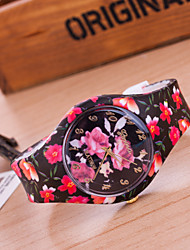 Недорогие -Жен. Повседневные часы Модные часы Кварцевый Разноцветный Аналоговый Дамы Цветы - 5 # 6 # 7 #