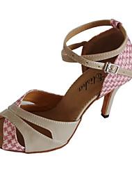 economico -Da donna Balli latino-americani Liscio Brillantini Tacchi Tacco su misura Oro/Nero Rosa Personalizzabile