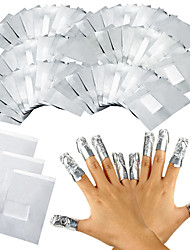 cheap -100Pcs/Lot Aluminium Foil Nail Art Soak Off Acrylic Gel Polish Nail Removal Wraps Remover Makeup Tool