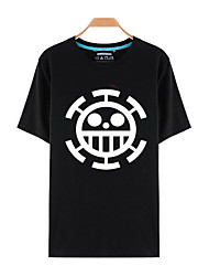 Ispirato da One Piece Monkey D. Luffy Anime Costumi Cosplay Cosplay T-shirt Con stampe Manica corta Top Per Unisex