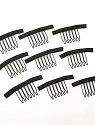 Недорогие -парик аксессуары парик волос расчески и зажимы для парика крышка черного цвета 20 шт / много парик шнурка делает гребенки и зажимы для