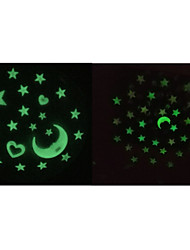 cheap -Romance Star and Moon Wall Decal Shapes / 3D Wall Stickers Luminous Wall Stickers,pvc 60*60cm