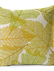 cheap -Leaf Pattern Linen Pillowcase Sofa Home Decor Cushion Cover (18*18inch)