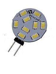 billiga -1pc 2,5w g4 led lampa 9 smd 5730 dc / ac 12 - 24v kall / varm vit för hem kök rv bil