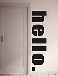 economico -Parole e citazioni / Forma / Astratto Adesivi murali Adesivi aereo da parete,PVC W180cm x L45cm