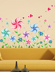 baratos -Autocolantes de Parede Decorativos - Autocolantes de Aviões para Parede Paisagem Romance Moda 3D Fantasia Sala de Estar Quarto Banheiro