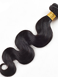 "Top Quality 1Pcs/Lot 50g 8""-26""Peruvian Virgin Hair Body Wave Natural Black 1B# Human Hair Weaves"