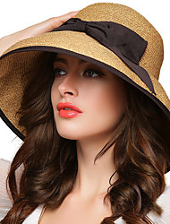 cheap -Women's Street chic Bowler / Cloche Hat Straw Hat - Solid Colored