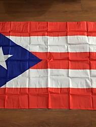 abordables -Puerto Rico bandera actividades 3ftx5ft para conmemorar las banderas decorativas de poliéster de calidad (sin mástil)