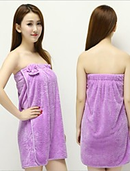 cheap -1PC New Women Lady Coral velvet Soft Bra Bow Bath Bathrobe Towel Skirt Dress