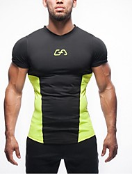Men's Running T-Shirt Short Sleeves Quick Dry Ultraviolet Resistant Breathable Soft Lightweight Materials Sweat-wicking Softness Top for