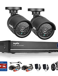 cheap -SANNCE® 720P AHD 720P 4CH Vedio DVR Home Surveillance Security Camera System (Black)