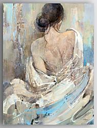 pittura ad olio moderno persone indietro di una donna tela dipinta a mano con telaio allungato