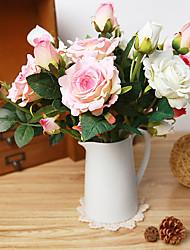 billige -Kunstige blomster 1 Afdeling Brudebuketter Roser Bordblomst