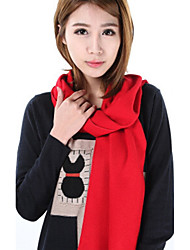 Women Autumn And Winter Thick Warm Cashmere Fringed Shawl Pure Color  Chinese Red Scarf