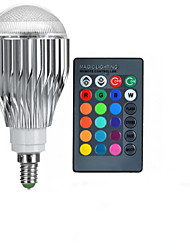 cheap -10W E14 LED Globe Bulbs A50 1 High Power LED 600-800 lm RGB 2000-3500 K Remote-Controlled AC 85-265 V