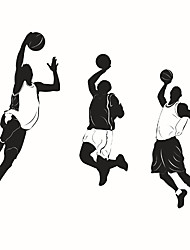 cheap -Wall Stickers Wall Decals Style Sports Basketball PVC Wall Stickers