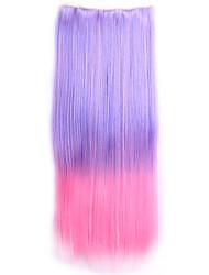 ombre sintetico perruque cabelo natural reta traje peruca grampo de cabelo sintético em extensões do cabelo
