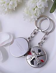 Zinc Alloy Keychain Favors-4 Piece/Set Keychains Vegas Theme / Classic Theme Personalized Silver