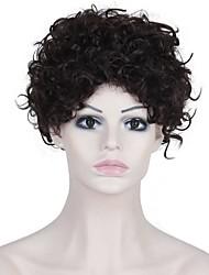 Ženy Tmavě hnědá Afro Umělé vlasy Bez krytky Přírodní paruka paruky
