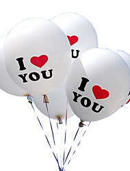 100pcs / lot 12-Zoll-ich liebe dich Perle Latexballons Ballons für Weihnachten Hochzeit Dekorationen GLOBOS