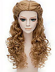 cheap -Women Synthetic Wig Long Wavy Brown Halloween Wig Carnival Wig Costume Wig