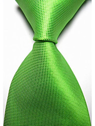 KissTies Men's Solid Plaid Checked Microfiber Tie Necktie With Gift Box (10 Colors Available)