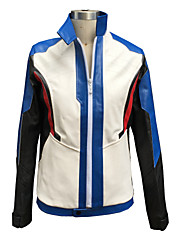 Inspired by Overwatch Sice Video Game Cosplay Costumes Cosplay Suits Geometric White Long Sleeve Coat / Gloves