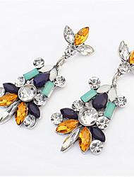Dichiarazione gioielli moda classica irregolare pianta geometrica fiori orecchini goccia avanzato gioielli