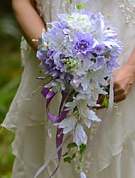 Hochzeitsblumen Freigeformt Wasserfall Lilien Sträuße Hochzeit Partei / Abend Satin Seide Organza