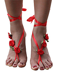 Women's Anklet/Bracelet Fabric Unique Design Flower Style Flowers Fashion Floral Simple Style Flower Jewelry Jewelry For Casual