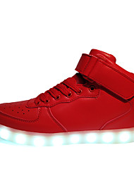 LED Light Up Shoes, Running Shoes Men's Shoes Outdoor / Athletic / Casual Synthetic Fashion Sneakers Black / White