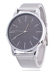 Women/Men's Silver Stainless Steel Band Analog Round Case  Wrist Watch Jewelry Fashion Watch