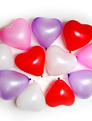 cheap -100pcs Heart Shape Balloons Occasions Wedding Birthday Party Decoration Supplies Ballon Party Decora