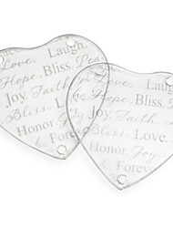 cheap -Hope, Bliss, Peace, Love Forever Glass Coasters Wedding Party Decoration (1pcs)