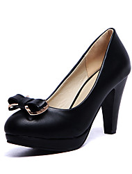 cheap -Women's Shoes Patent Leather Cone Heel/Platform/Comfort/Round Toe Heels Outdoor/Casual Black / Blue/Pink/White