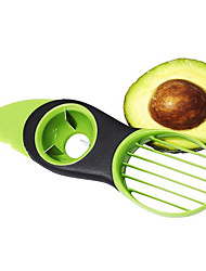 cheap -3in1 Multi-function Avocado Slicer Peeler Cutter&Core Remover Fruit Pitter Plastic Safe Durable Blade Good Grip Split