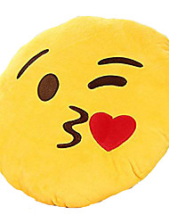 cheap -13 Inch Emoji Smiley Emoticon Yellow Round Cushion Pillow Stuffed Plush Soft Toy