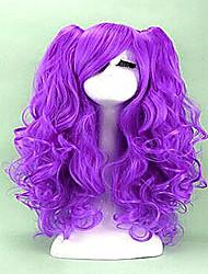 abordables -Pelucas sintéticas / Pelucas de Broma Rizado Pelo sintético Peluca Mujer Sin Tapa