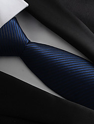 cheap -Men's Polyester Neck Tie,Vintage Party Work Striped All Seasons Navy Blue