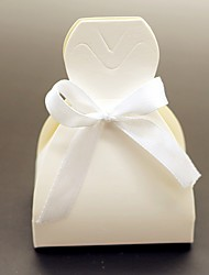 cheap -Round Square Creative Card Paper Favor Holder with Printing Favor Boxes Favor Bags - 12