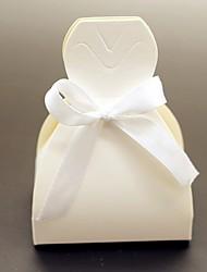 abordables -12 pcs boîte de faveur de mariage - cartes papier faveurs boîte mariée robe de mariée mariage décor non personnalisé