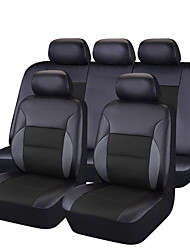 cheap -Pvc Leather  Universal Car Seat Covers Full Set Seat Covers