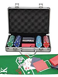 economico -400 pacchetto di chip con scatola di legno chip di carte da imballaggio abs