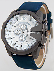 cheap -V6 Men's Wrist watch Quartz Water Resistant / Water Proof Leather Band Charm Black Blue Brown Green