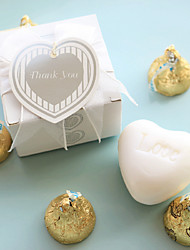 Beter Gifts® Recipient Gifts - White Heart Soap Wedding Favor